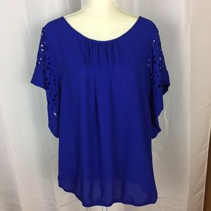 NY Collection cobalt blue blouse 2X